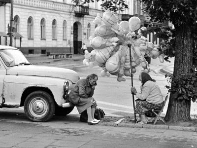 Kielce,sprzedaz balonow 1982r